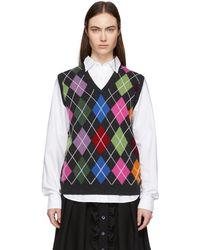 Noah グレー アーガイル セーター
