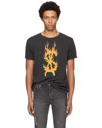 Ksubi | Black Travis Scott Edition Flaming Dollar T-shirt | Lyst