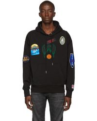 DIESEL Pull a capuche noir Alby-Patches