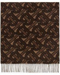 Burberry - ネイビー Giant Check スカーフ - Lyst