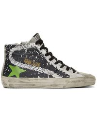 Golden Goose Deluxe Brand Black And White Marker Slide Sneakers