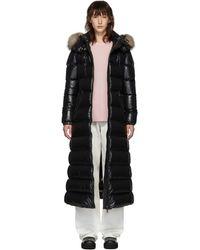 Moncler Black Down Hudson Long Coat