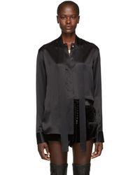 Haider Ackermann - Black Silk Dali Shirt - Lyst