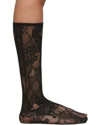Gucci Black Blossom GG Socks