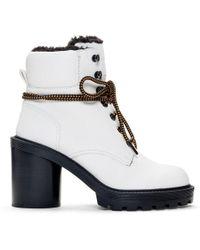 Marc Jacobs ホワイト Crosby ハイキング ブーツ