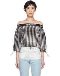 Palm Angels - Black And White Balloon Crop Top - Lyst