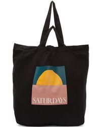 Saturdays NYC ブラック デュアル ハンドル Sunset トート