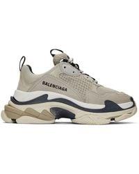 Balenciaga Beige Triple S Sneakers - Multicolor