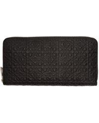 Loewe - Black Medium Anagram Continental Wallet - Lyst