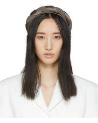 Sophie Buhai Taupe Silk Twisted Headband - Brown
