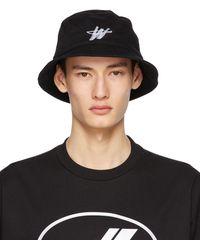 we11done Black Logo Stamp Bucket Hat