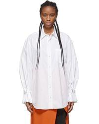 Toga White Stretch Broad Shirt