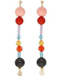 Emilio Pucci Boucles perlees multicolores Long