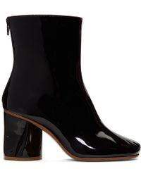 Maison Margiela - Black Crushed Heel Ankle Boots - Lyst