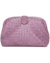 Bottega Veneta - Purple Intrecciato Lauren 1980 Clutch - Lyst