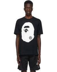 A Bathing Ape Black Crystal Stone Big Ape Head T-shirt