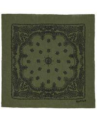 Margaret Howell - グリーン And ブラック ペイズリー プリント スカーフ - Lyst