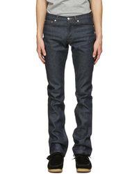 A.P.C. Indigo Petit Standard Jeans - Blue