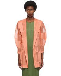 Pleats Please Issey Miyake Pink Swim Ring Hooded Jacket - Green
