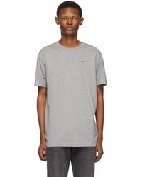 Off-White c/o Virgil Abloh - T-shirt a logo gris et noir Slim - Lyst