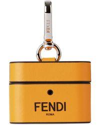 Fendi オレンジ レザー Airpods Pro ケース - マルチカラー