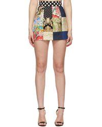 Dolce & Gabbana マルチカラー Patchwork ミニスカート