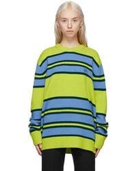 Acne Studios - グリーン & ブルー ストライプ セーター - Lyst