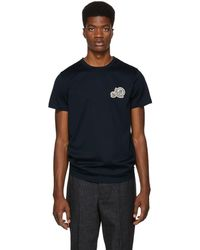 Moncler - Navy Embroidered Logo T-shirt - Lyst