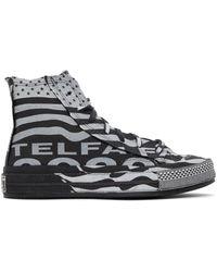 Telfar Baskets noires et blanches Chuck 70 High édition Converse