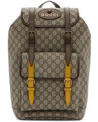 5019fdce8806 Lyst - Gucci Gg Supreme Appliquéd Backpack in Brown for Men