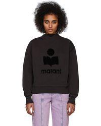 Étoile Isabel Marant ブラック Moby Inactif スウェットシャツ