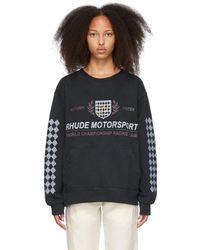 Rhude ブラック Motor Crest スウェットシャツ