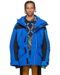 Martine Rose Blue Silver Edition Epoch 1 Jacket