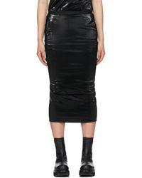 Rick Owens Lilies Polished Tube Skirt - Black