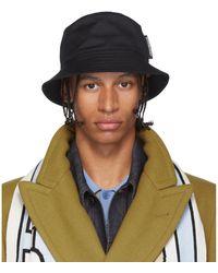 Burberry Chapeau en serge noir