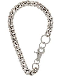 Martine Ali - Silver Cuban Link Choker Necklace - Lyst