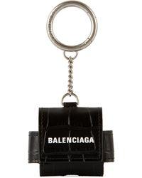 Balenciaga ブラック クロコ Cash Airpods Pro ケース