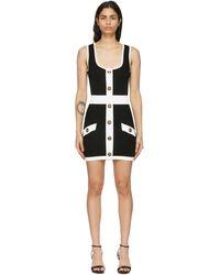 Balmain - ブラック & ホワイト ショート ドレス - Lyst