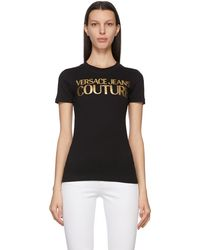 Versace Jeans Couture - ブラック Institutional ロゴ T シャツ - Lyst
