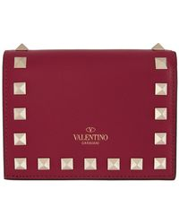 Valentino Red Garavani Rockstud Flat French Wallet