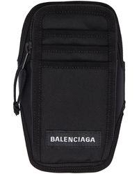 Balenciaga ブラック Explorer Arm フォン ホルダー ポーチ