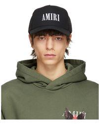 Amiri Black Core Logo Trucker Hat