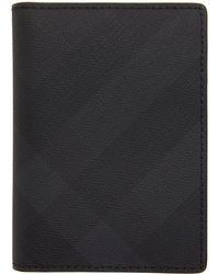 Burberry - ブラック ロンドン チェック カード ケース - Lyst