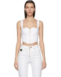 Versace Jeans Couture ホワイト Corset タンク トップ