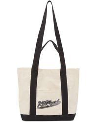 Maison Kitsuné - オフホワイト スモール Varsity Fox ショッピング トート - Lyst