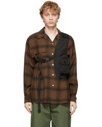 Engineered Garments Black Shoulder Vest Bag - Multicolor