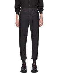 Prada Black Nylon Full Side Zip Pants
