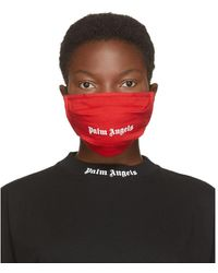 Palm Angels Masque a logo rouge
