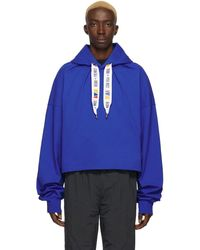 REEBOK X PYER MOSS Blue Collection 3 Jersey Hoodie