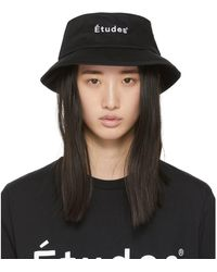 Etudes Studio Black Training Bucket Hat